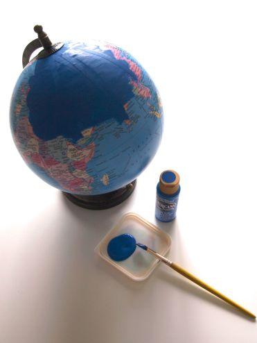 Base coat on globe