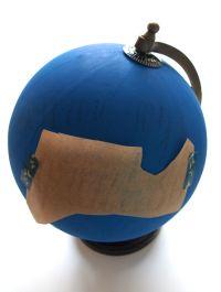 Transfer lettering to globe
