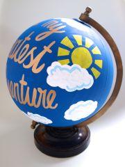 Finished globe - sun close up