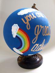 Finished globe - rainbow close up
