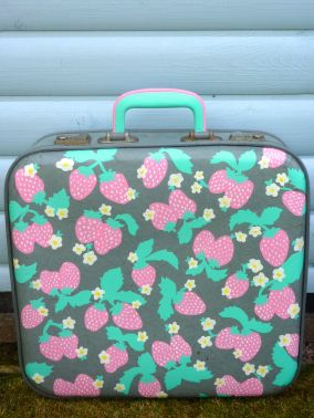 Strawberry suitcase