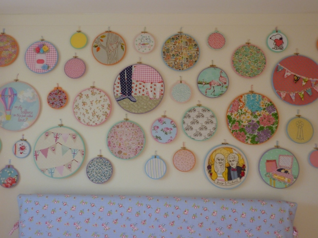 Hoop art wall update - September