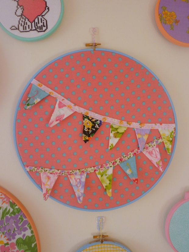 Mini bunting embroidery