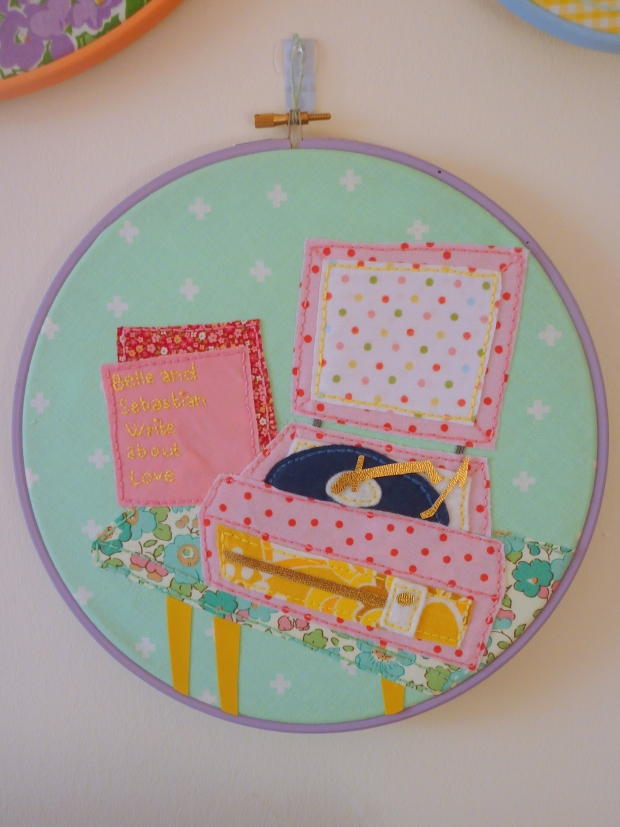 Record player embroidery