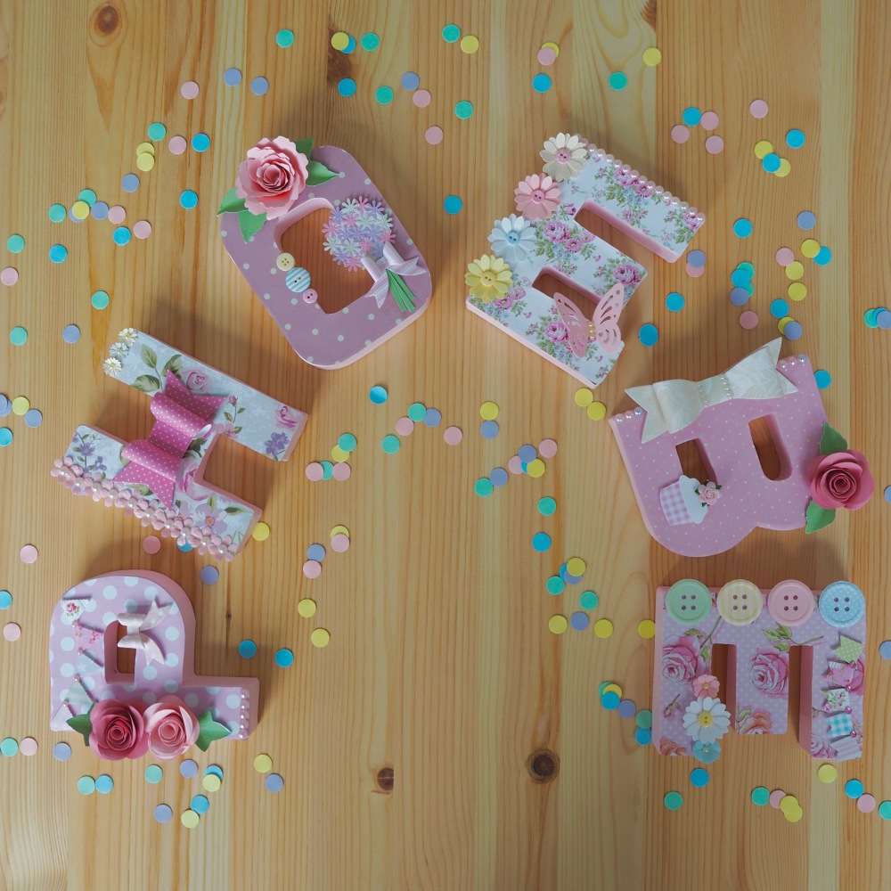 Bespoke hand decorated letters by Spotty Daisy