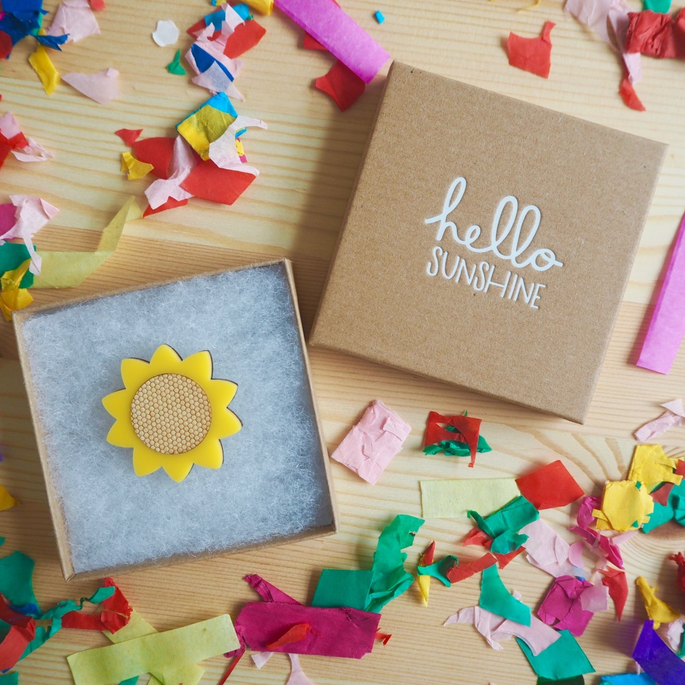 Sunflower brooch by Hello Sunshine