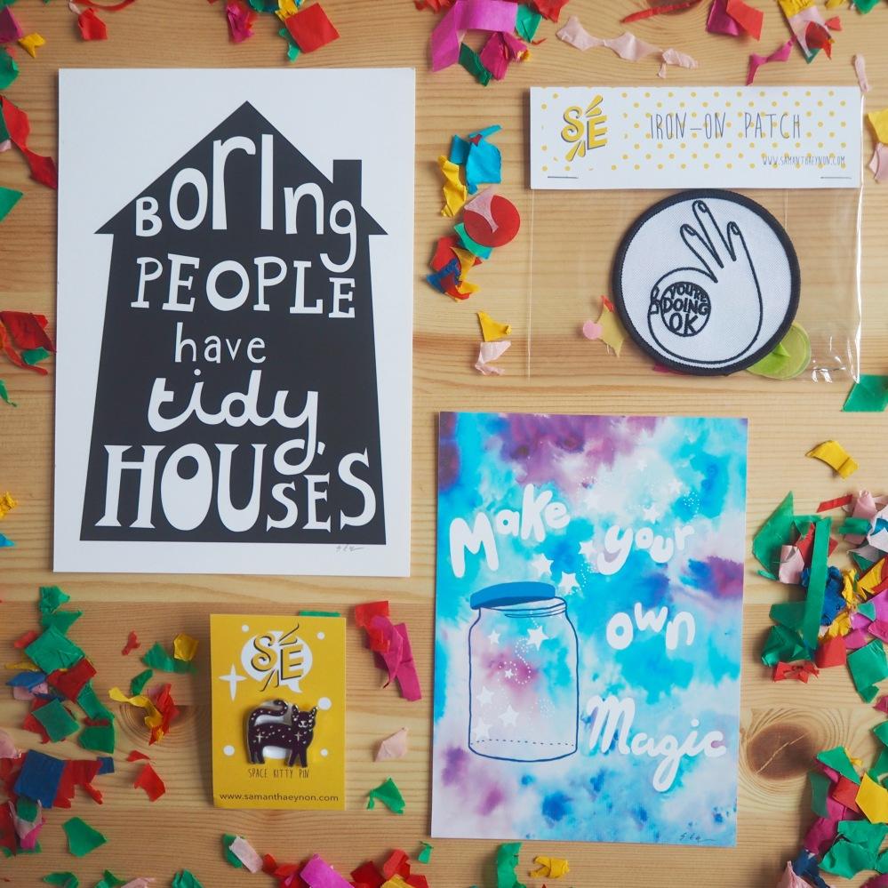 Bundle of fabulous art and flair by Samantha Eynon