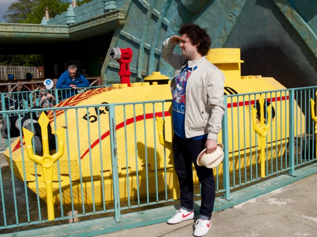 Michael posing as Zissou in Legoland