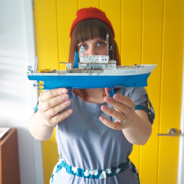 The Life Aquatic Team Zissou inspired Jumpsuit, Belafonte Model Boat, Wes Anderson