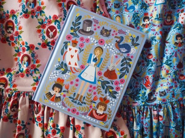 Rifle Paper Co Wonderland Fabric for Cotton & Steel, Alice in Wonderland, Handmade Dresses